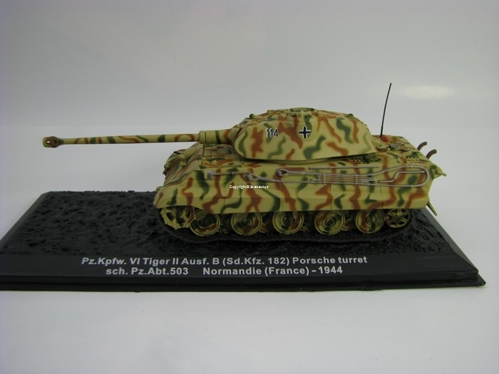 Tank Tiger II Ausf.B Sd.Kfz. 182 Porsche turret Normandie France 1944 1:72 Atlas Edition